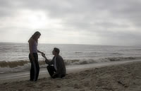 A happy conclusion to pre-engagement counseling: A Beach Proposal